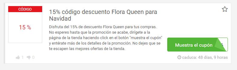 descuentos flora queen