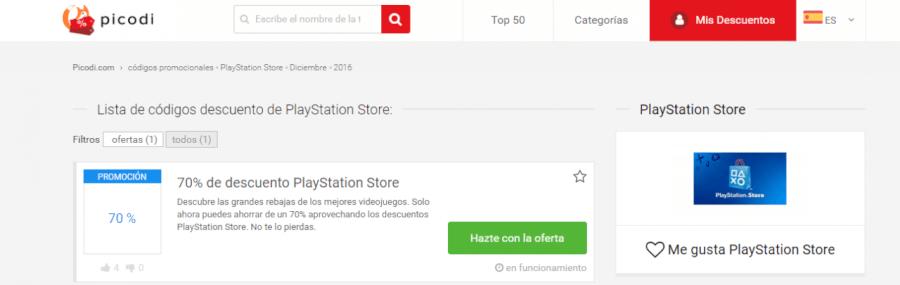 descuentos PlayStation Store