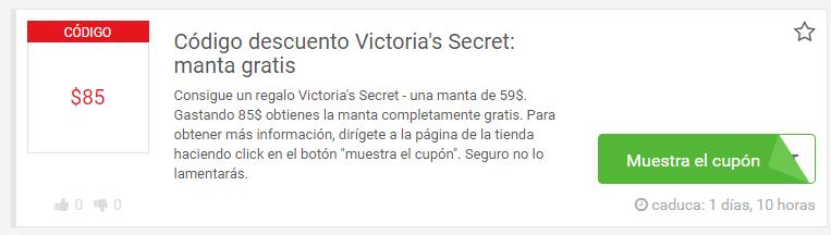 descuentos victoria secret