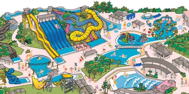 Plan del parque Aquopolis