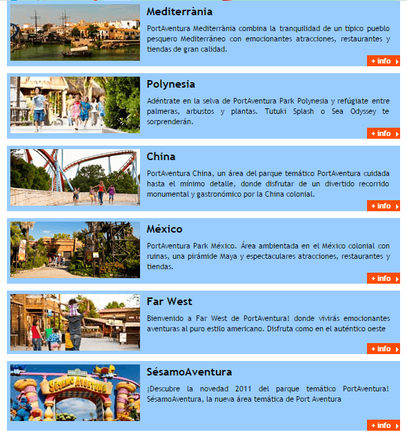 areas tematicas port aventura