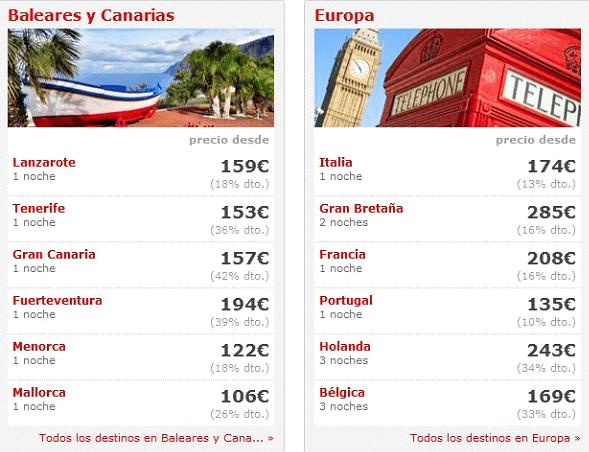 Viajes Low-cost con las ofertas promocionales Atrapalo
