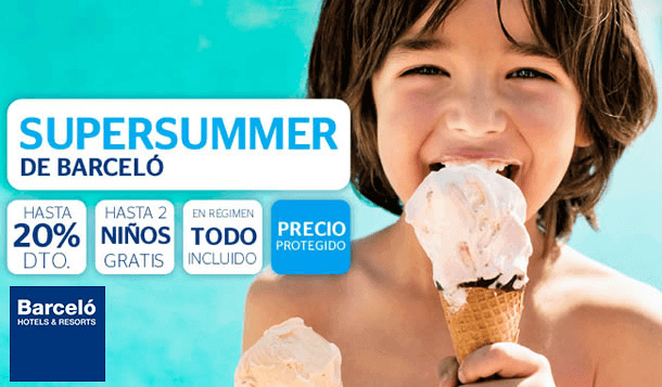 El sitio ofrece diferentes promociones y cupones descuento Barceló Hoteles