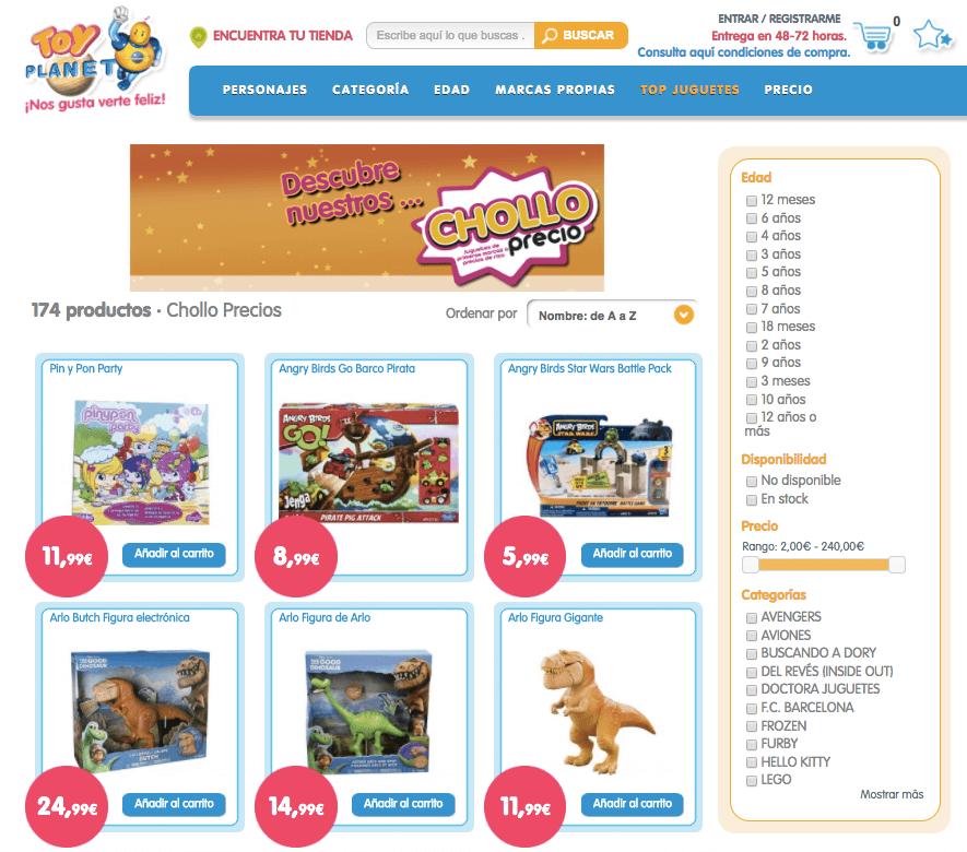 pagina de inicio toyplanet