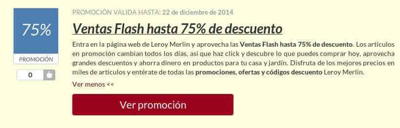 Código descuento Leroy Merlin