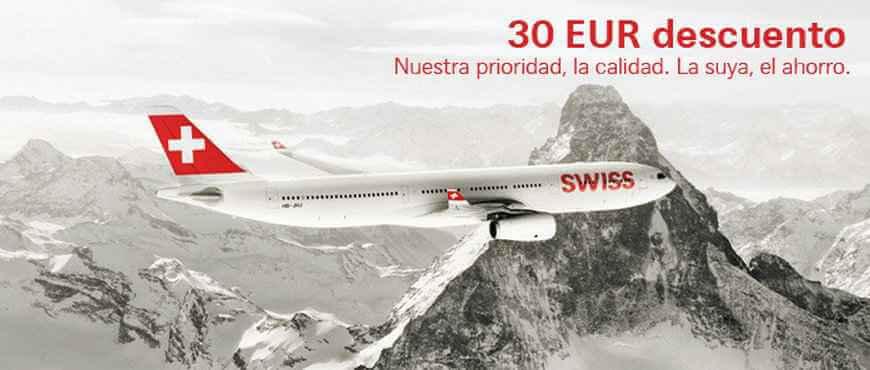 Código descuento de Swiss Airlines
