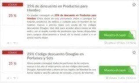 Códigos descuento Douglas