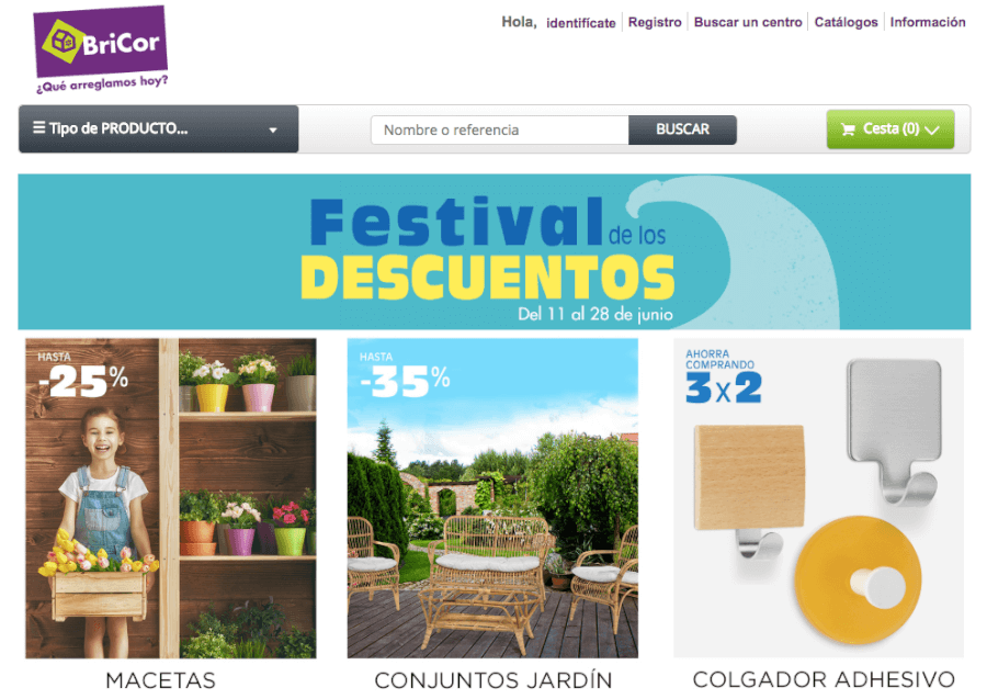 promociones bricor homepage