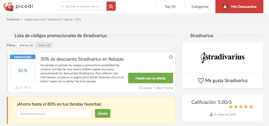 Descuentos Stradivarius