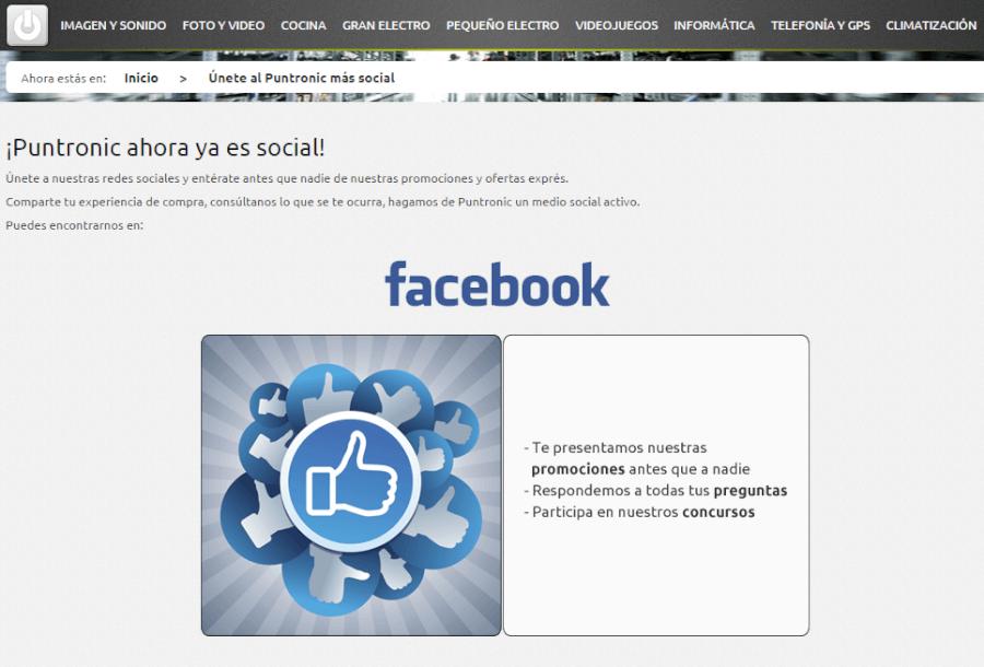 puntronic en facebook