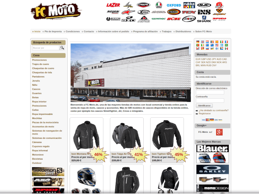 Visita la página web de FC-Moto y aprovecha grandes descuentos