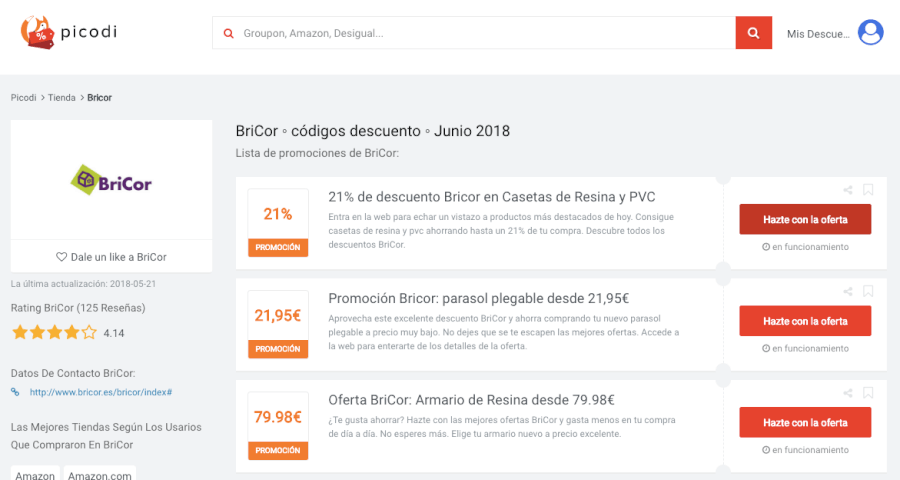 ofertas bricor en Usuariocupon