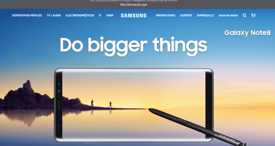 pagina principal Samsung