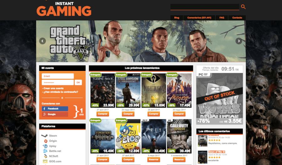 ofertas de la tienda instant gaming