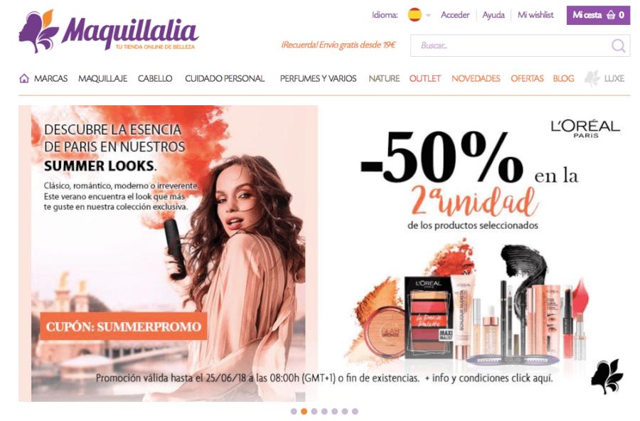 promociones maquillalia