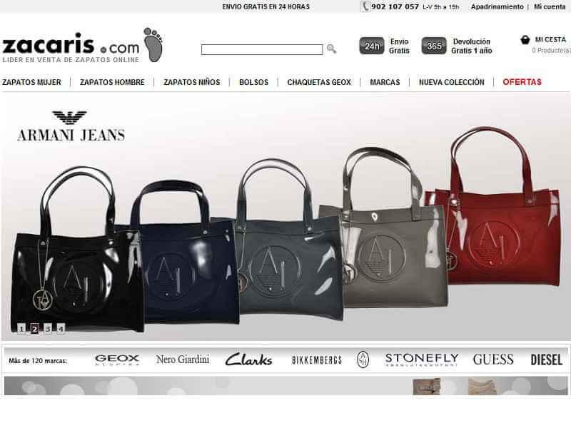 La página principal de Zacaris.com