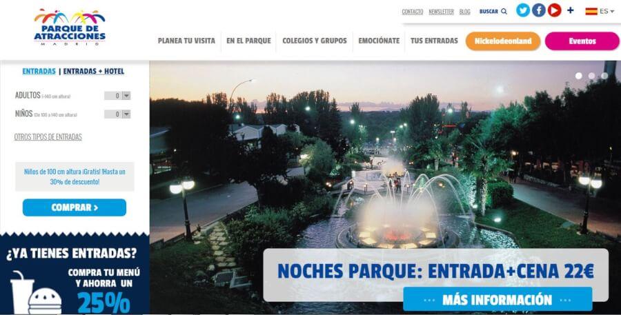 portada parque de atracciones