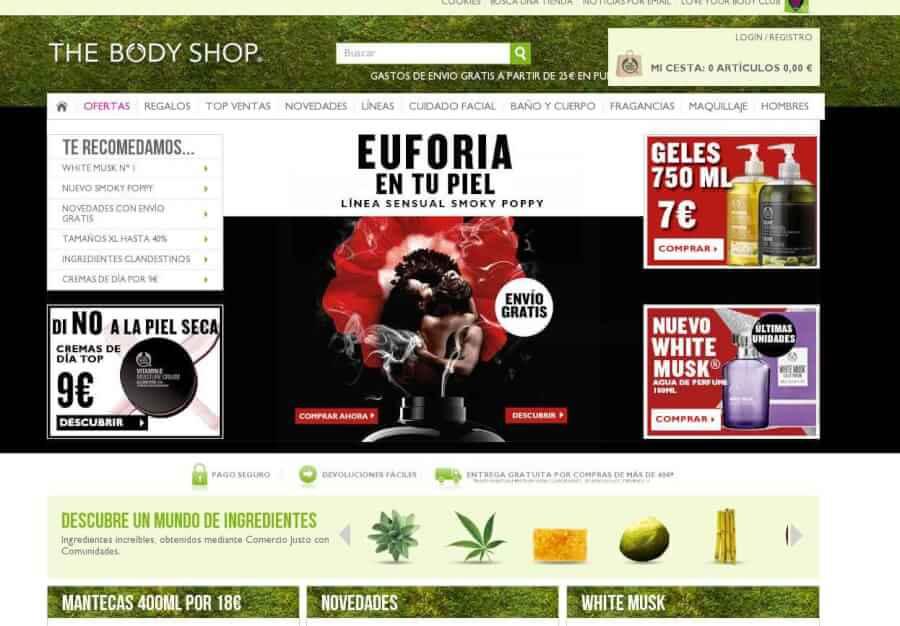 Visita la tienda online de The Body Shop y aprovecha las promociones