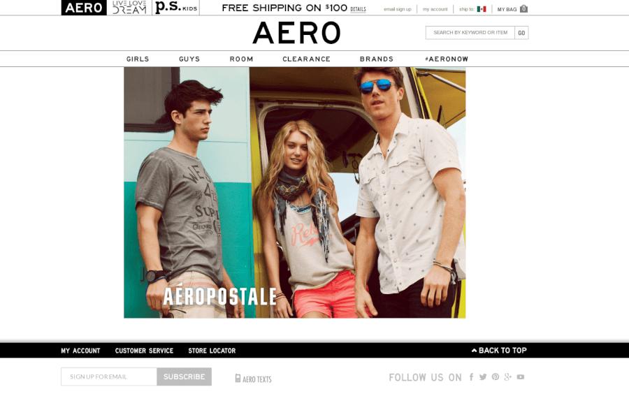 Visita la página principal de Aéropostale y ahorra en tu ropa