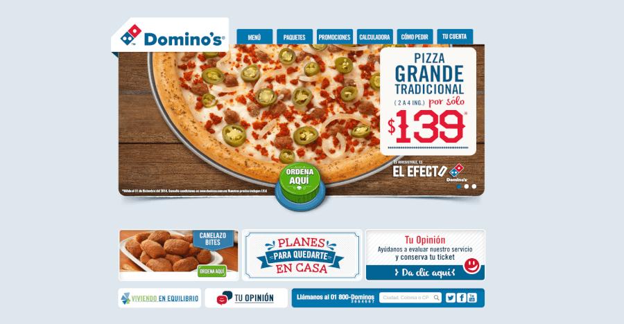Entra en la página principal de Domino's Pizza y entérate de todas las promociones