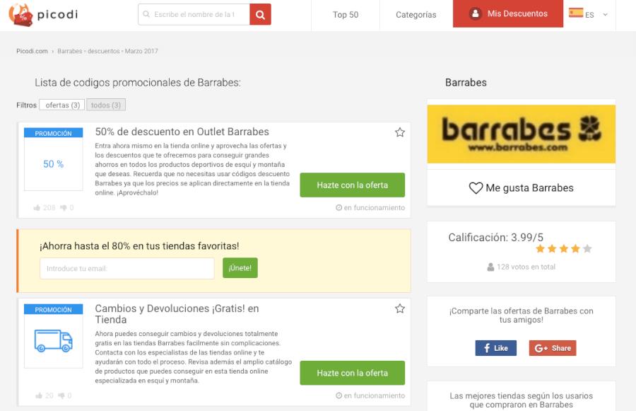 promociones Barrabes