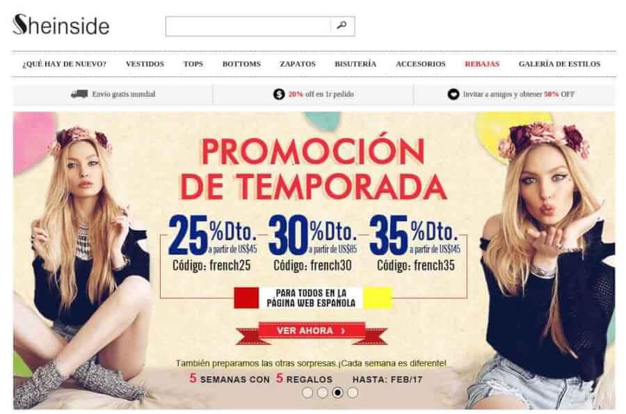 Tienda Online Sheinside - Moda Barata en Internet