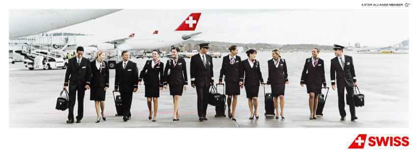Tripulación de SWISS Airlines