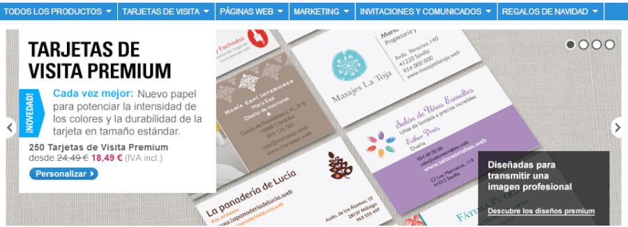 Imprima tu tarjetas con cupones descuento Vistaprint