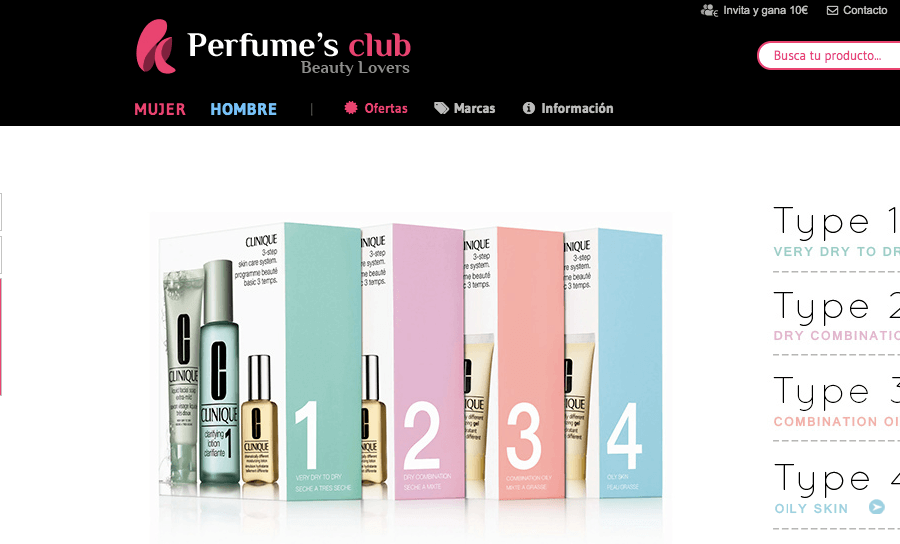 pagina home perfume's club